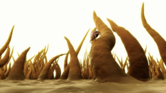 3d Render Of Dust Mite. Allergy House Hygiene Bed - stock footage