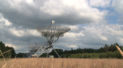 Radio telescopes directed to the sky Stock Footage