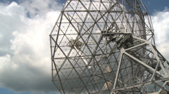 Close shot of radio telescope Stock Footage