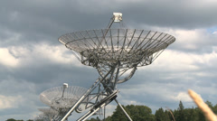 Radio telescope directed to the sky Stock Footage