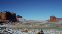 Monument Valley Colorado Plateau Navajo Tribal Park desert Buttes, Arizona, USA - stock footage
