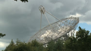 Stock Video Footage of time lapse of radio telescope surveillance of the sky