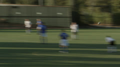 2.5K Soccer Free Kick On Goal Keeper Catch Stock Footage