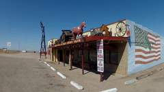 Mikes Route 66 Outpost Saloon- Kingman AZ Stock Footage