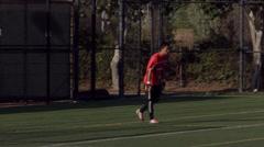 2.5K Soccer Goal Kick Headers 2 Stock Footage