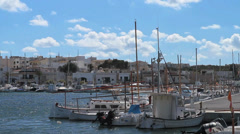 Harbor of Porto Colom, Majorca, Spain - stock footage