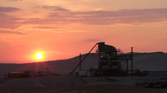 Time lapse of a sunset in a gravel pit Stock Footage