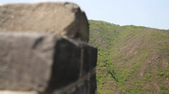 The incredible great wall of china beijing mutianyu with tourists Stock Footage