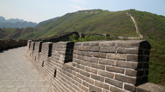 Great wall of china beijing mutianyu with tourists Stock Footage