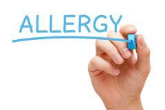 Allergy blue marker Stock Illustration