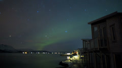 Time lapse Aurora Borealis natural Solar wind  Geomagnetic storm  Norway - stock footage