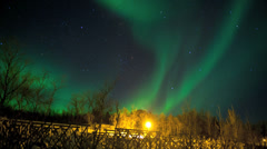 Time lapse Aurora Borealis sky natural solar light display winter Norway Stock Footage