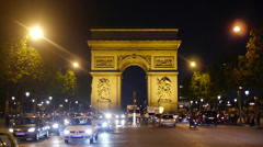 Paris Champs Elysee Stock Footage