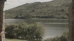 Cottage window, Slider Shot & Boat Stock Footage