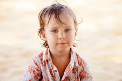 Little boy with a bruise Stock Photos