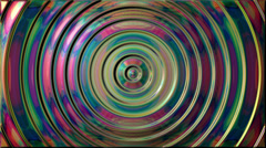 Mirror metallic circles waves loop background - Full HD Stock Footage