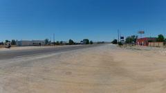 Wide Shot Route 66 Running Through Truxton Arizona Stock Footage