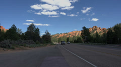 Traffic road to Bryce Canyon Utah HD 170 Stock Footage