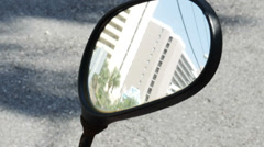 1840 Motorcycle Mirrors Reflection, HD Stock Footage