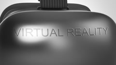 Virtual Reality Headset Oculus VR Green Screen Stock Footage