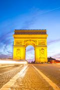 Stock Photo of arc of triomphe champs elysees paris
