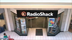 Radio Shack mall storefront - stock footage