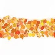 Autumn background with colorful leaves. Stock Illustration