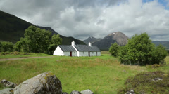 Blackrock cottage, glencoe, highlands, scotland Stock Footage