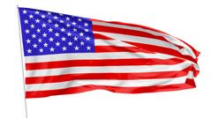 Flag of United States on flagpole - stock footage