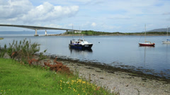 Seaprobe atlantis glass bottom boat, isle of skye, Scotland Stock Footage