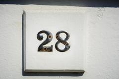 Number twenty eight - stock photo