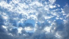 Three Layers of Clouds Swirl, Speed Across Sky, Time Lapse Stock Footage