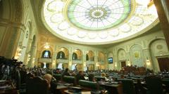 Romanian Senate celebrating 150 years of activity. Stock Footage