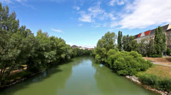 Danube Canal in Vienna Stock Footage