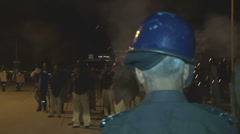 Stock Video Footage of Police Teargas Rioters in Islamabad, Pakistan