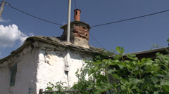 Pan from street in Theologos, Thassos Greece Stock Footage