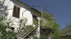 Old house in theologos in Thassos Greece Stock Footage