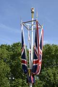 British union flags on the mall. london. england Stock Photos