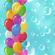 Balloon background seamless - stock illustration