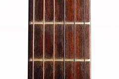 guitar fret board - stock photo