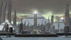 Animation of a futuristic city - stock footage