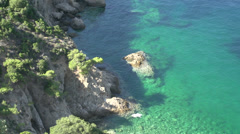 Close up from Coast line Thassos Greece Stock Footage