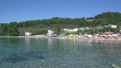 Beach Limenas, Thassos town,  Greece Stock Footage