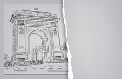 arc de triomphe - stock illustration