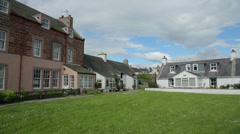 houses at waterfront, cromarty, highland, scotland - stock footage