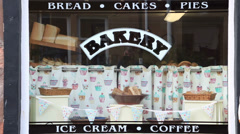 bakery at cromarty, scotland - stock footage