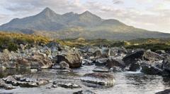Sligahan river on Island of Skye Stock Footage