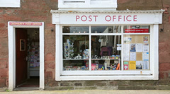 Stock Video Footage of post office at cromarty, scotland
