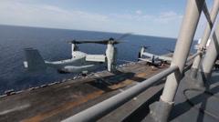 MV-22 Osprey tiltrotor helicopter Stock Footage