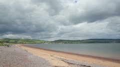 Beach and coastline of moray firth, fortrose, scotland Stock Footage
